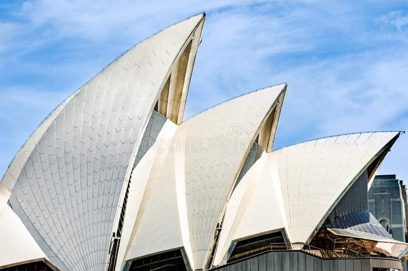 Sydney Opera House, detalhe do telhado fotos de stock royalty free