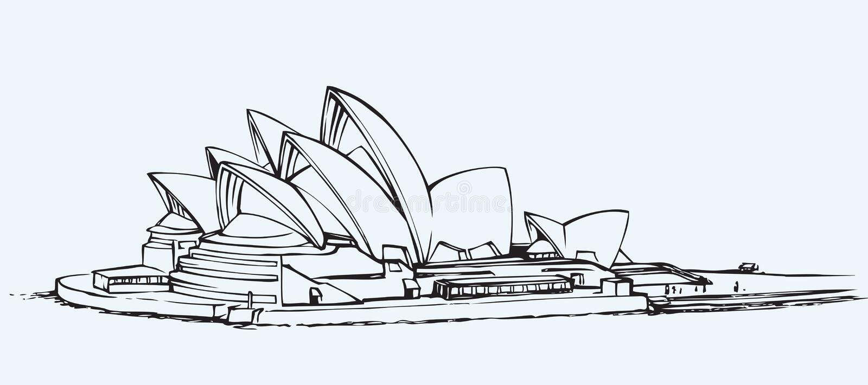 Sydney Opera House EPS 10 royalty-vrije illustratie