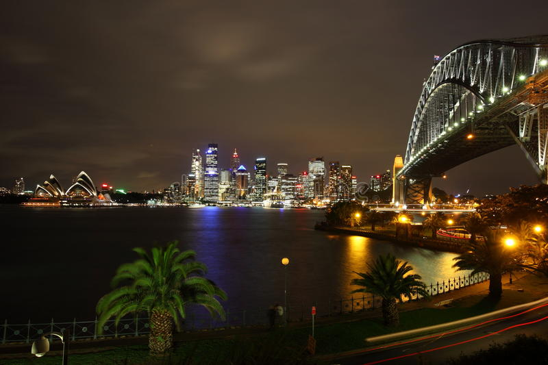 Sydney Opera House and Harbour Bridge royalty free stock photos