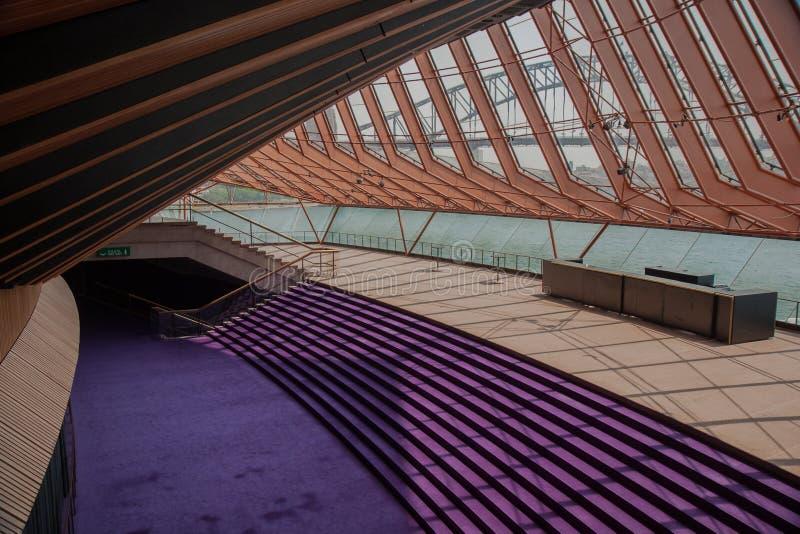 Sydney Opera House inre royaltyfri fotografi