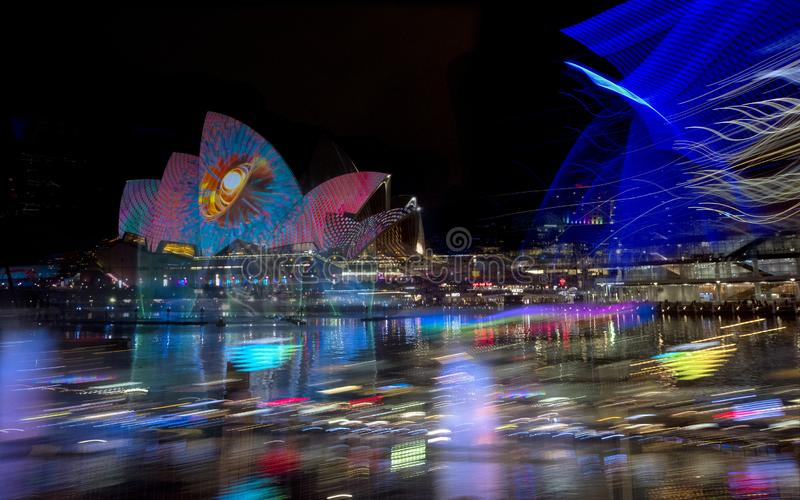 The Sydney Opera House_6375A_jpg. The Sydney Opera House is a multi-venue performing arts centre in Sydney, New South Wales, Australia. It sits on Bennelong royalty free stock photos