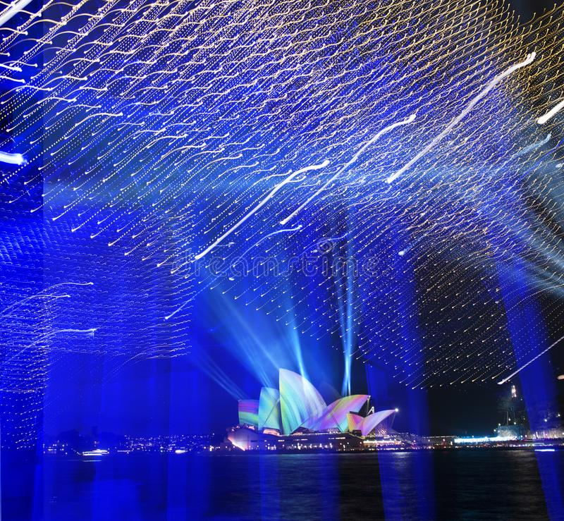 The Sydney Opera House_4108_jpg. The Vivid of Sydney at Sydney NSW Australia royalty free stock image