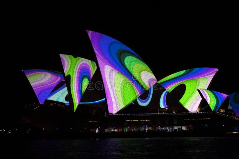 The Sydney Opera House_7978. The Sydney Opera House is a multi-venue performing arts centre in Sydney, New South Wales, Australia. It sits on Bennelong Point royalty free stock images