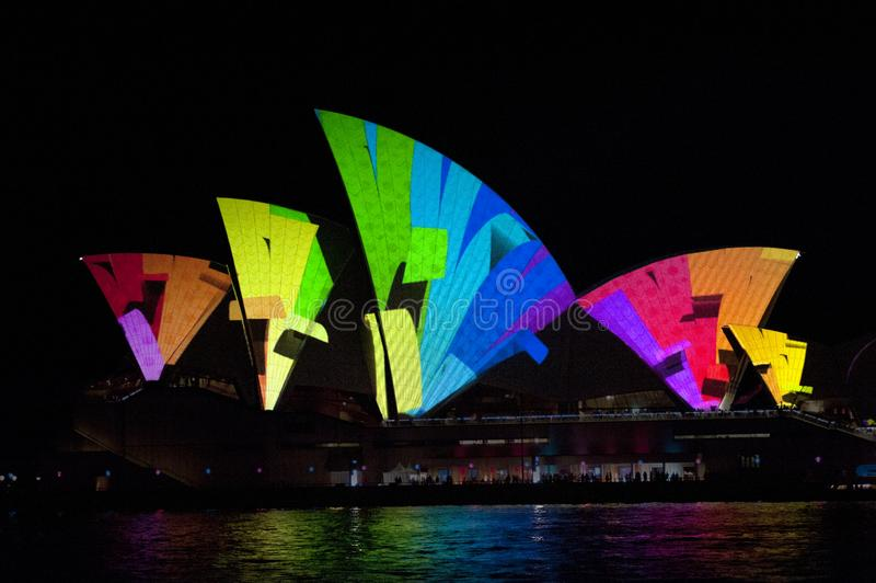 The Sydney Opera House_8037. The Sydney Opera House is a multi-venue performing arts centre in Sydney, New South Wales, Australia. It sits on Bennelong Point stock image