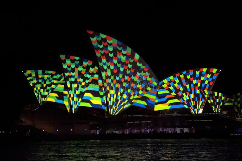 The Sydney Opera House_8113. The Sydney Opera House is a multi-venue performing arts centre in Sydney, New South Wales, Australia. It sits on Bennelong Point stock image
