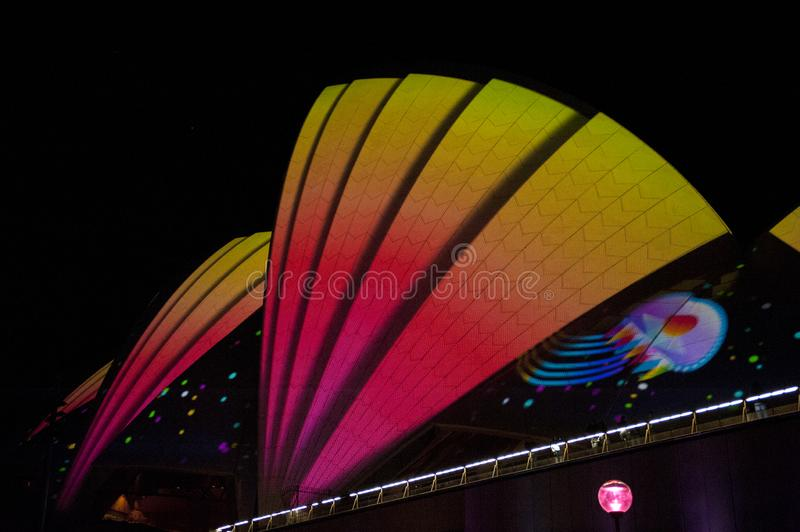 The Sydney Opera House_8267. The Sydney Opera House is a multi-venue performing arts centre in Sydney, New South Wales, Australia. It sits on Bennelong Point stock image