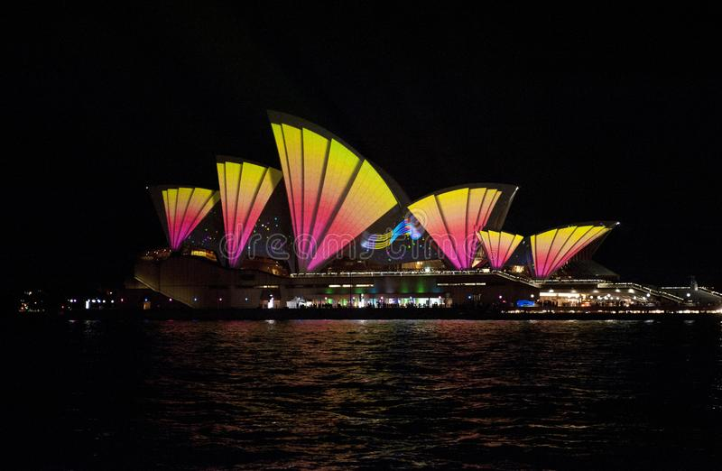 The Sydney Opera House_7759. The Sydney Opera House is a multi-venue performing arts centre in Sydney, New South Wales, Australia. It sits on Bennelong Point stock image