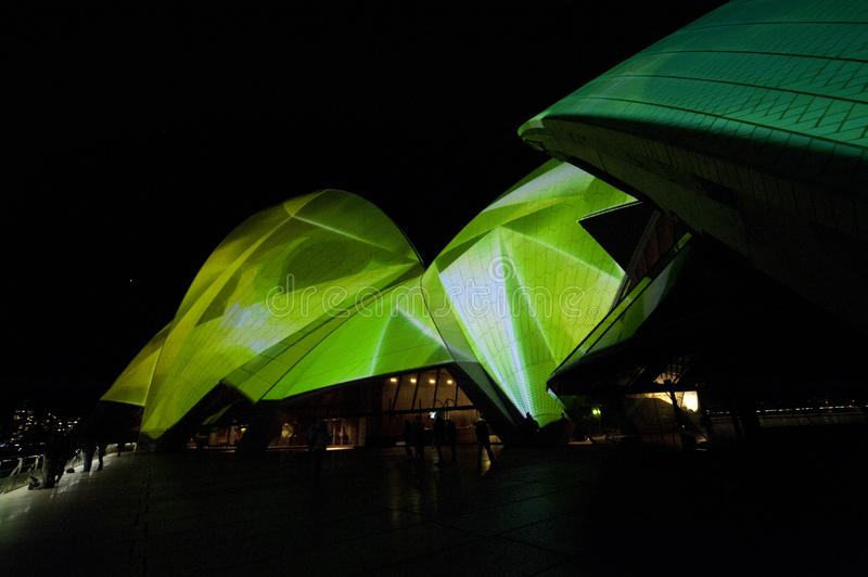The Sydney Opera House_8785. The Sydney Opera House is a multi-venue performing arts centre in Sydney, New South Wales, Australia. It sits on Bennelong Point royalty free stock photo