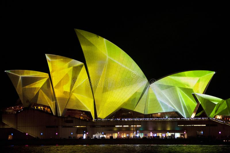 The Sydney Opera House_7882. The Sydney Opera House is a multi-venue performing arts centre in Sydney, New South Wales, Australia. It sits on Bennelong Point royalty free stock photography