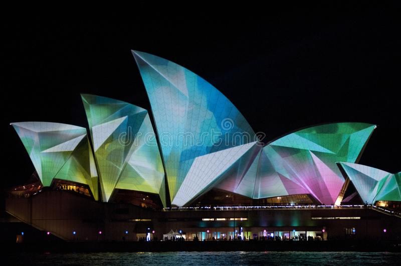 The Sydney Opera House_7892. The Sydney Opera House is a multi-venue performing arts centre in Sydney, New South Wales, Australia. It sits on Bennelong Point royalty free stock image