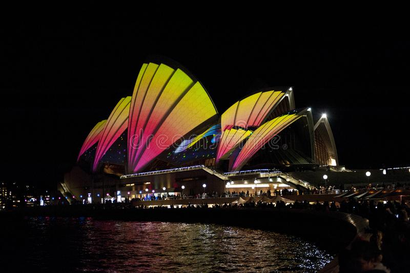 The Sydney Opera House_8199. The Sydney Opera House is a multi-venue performing arts centre in Sydney, New South Wales, Australia. It sits on Bennelong Point stock image
