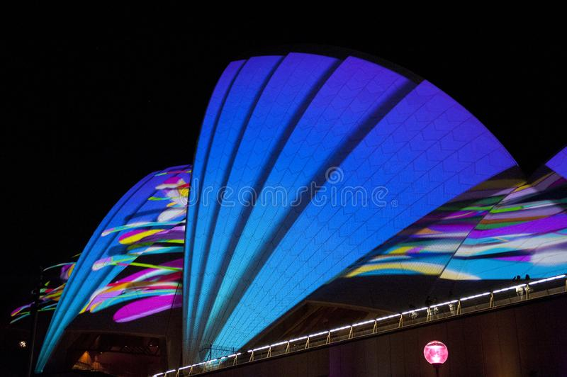 The Sydney Opera House_8238. The Sydney Opera House is a multi-venue performing arts centre in Sydney, New South Wales, Australia. It sits on Bennelong Point royalty free stock photography