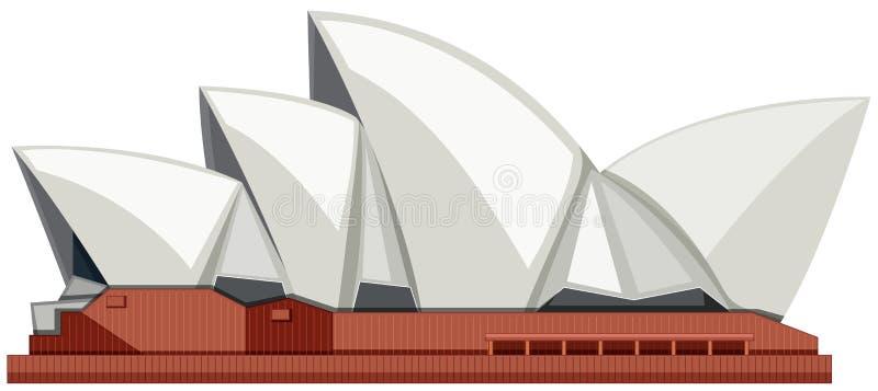 Sydney Opera House på vit bakgrund royaltyfri illustrationer