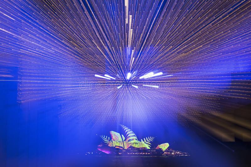 The Sydney Opera House_4193s_jpg. Sydney Opera House at night, NSW Australia royalty free stock images