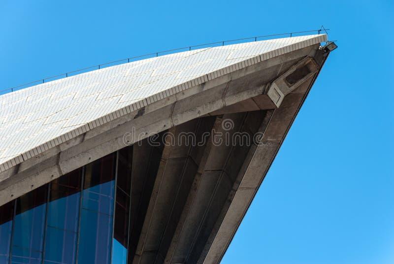 Sydney Opera House Sail Close oben - Sydney - Australien lizenzfreie stockfotos