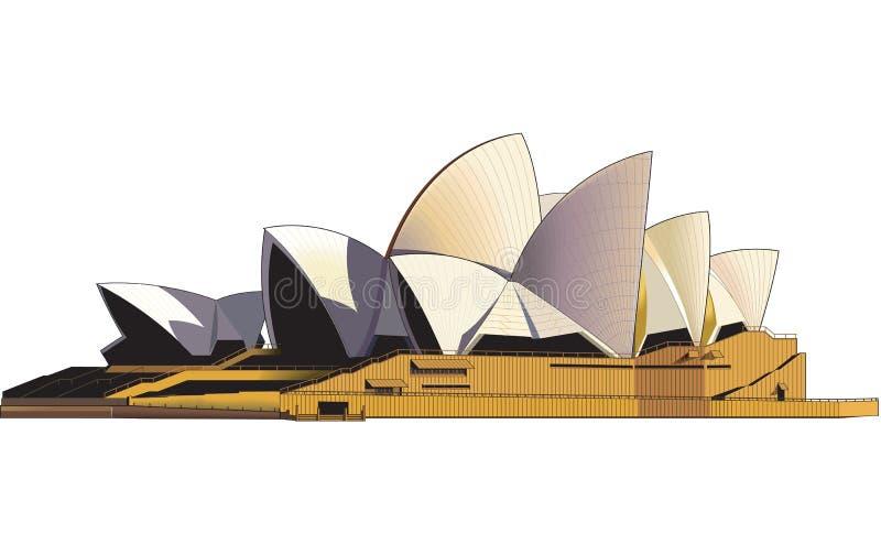 Sydney Opera House Vector Illustration royaltyfri illustrationer