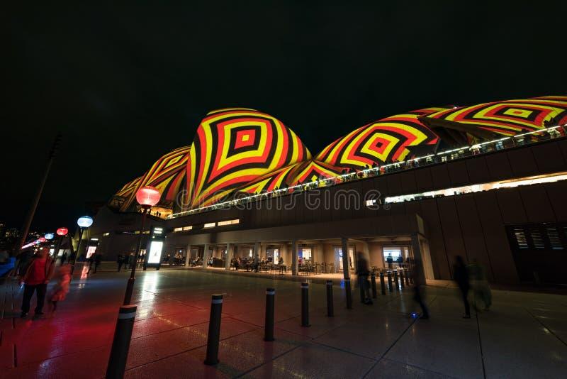 Sydney Opera House during Vivid Sydney festival stock photo