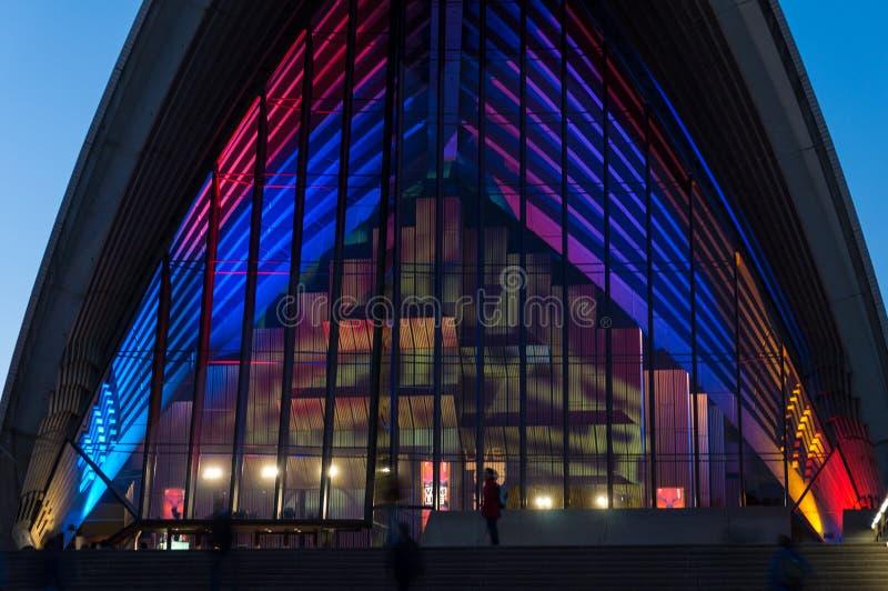 Sydney Opera House During Vivid Sydney Festival 2016 foto de stock