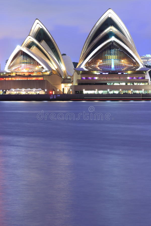 Sydney Opera House waterfront at blue hour