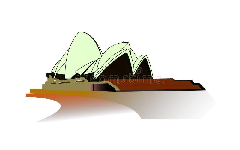 Sydney Opera i en vektorbild stock illustrationer
