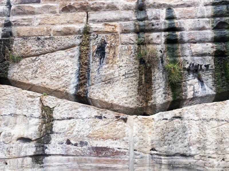Sydney Piaskowcowa faleza i Wspornikowa ściana, Australia fotografia stock