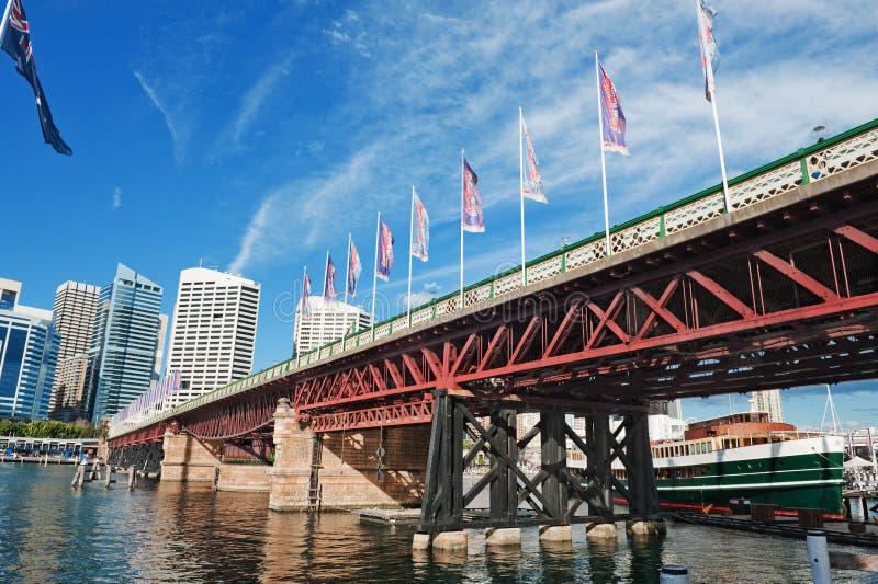 Sydney Pyrmont Bridge foto de archivo libre de regalías
