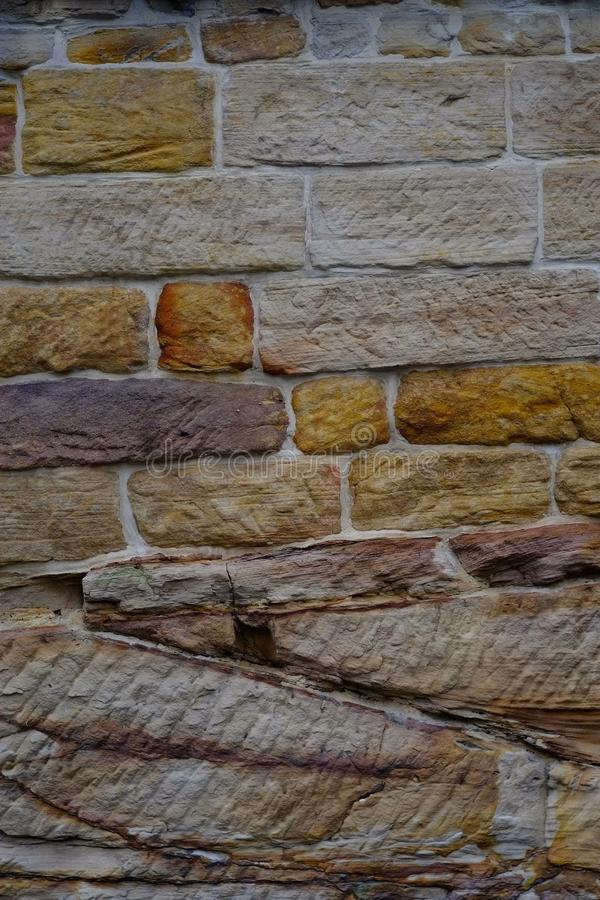 Sydney Sandstone Wall stockfoto