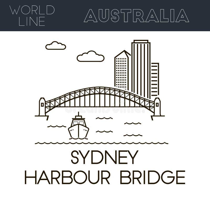 Sydney schronienia most ilustracji