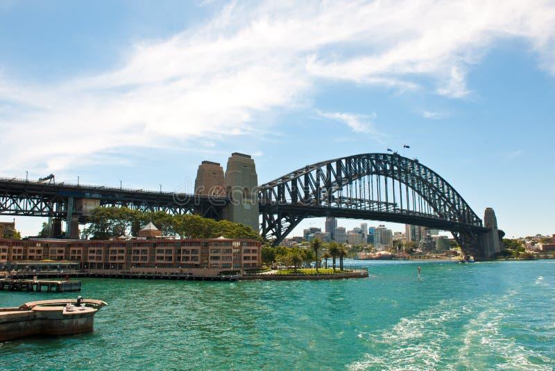 Sydney, schronienie most i parka Hyatt hotel, zdjęcia royalty free
