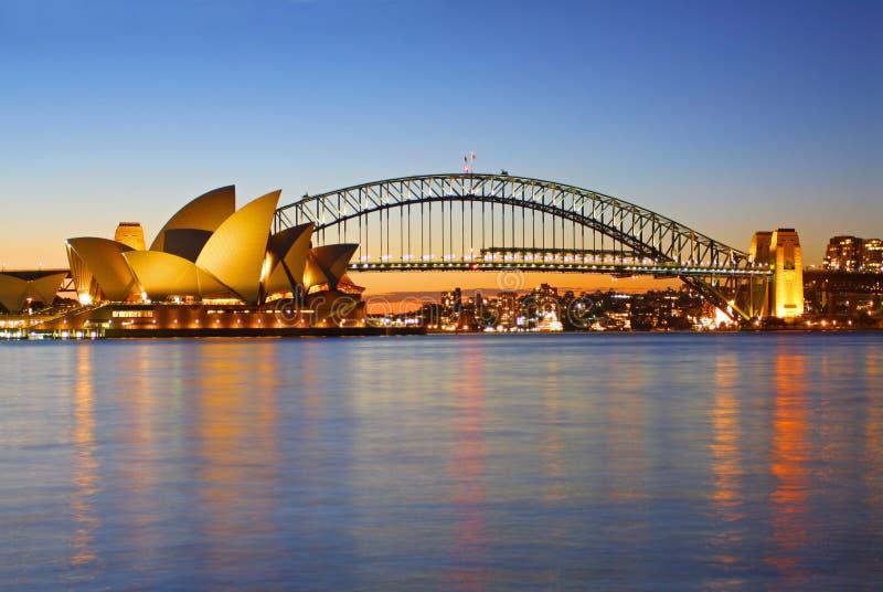 Sydney Schronienie Opery Most i obrazy royalty free