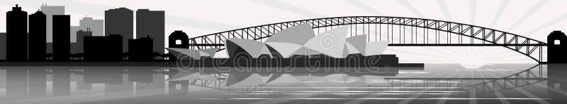 Sydney skyline - banner - vector vector illustration