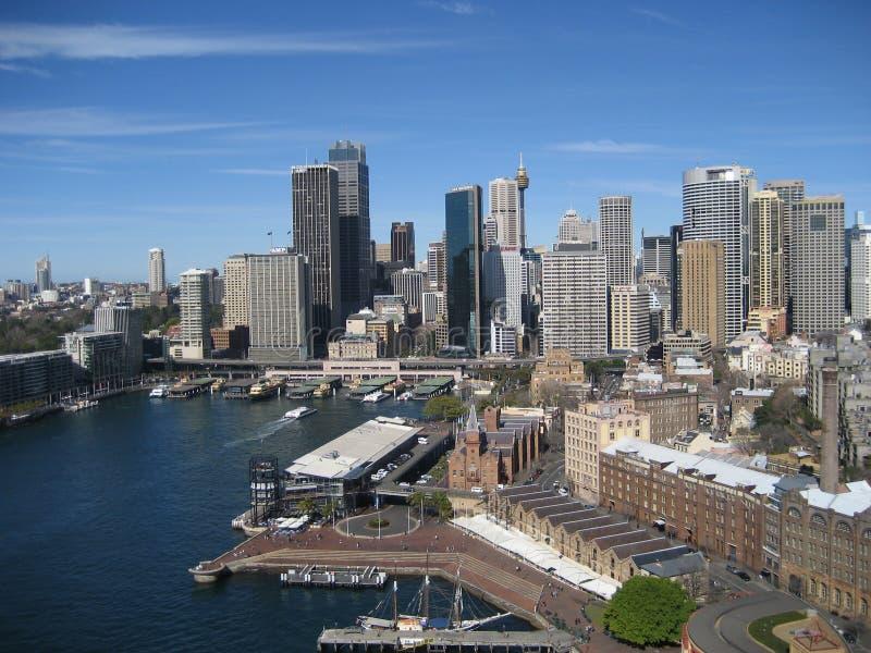 Sydney Skyline da Quay circolare fotografia stock