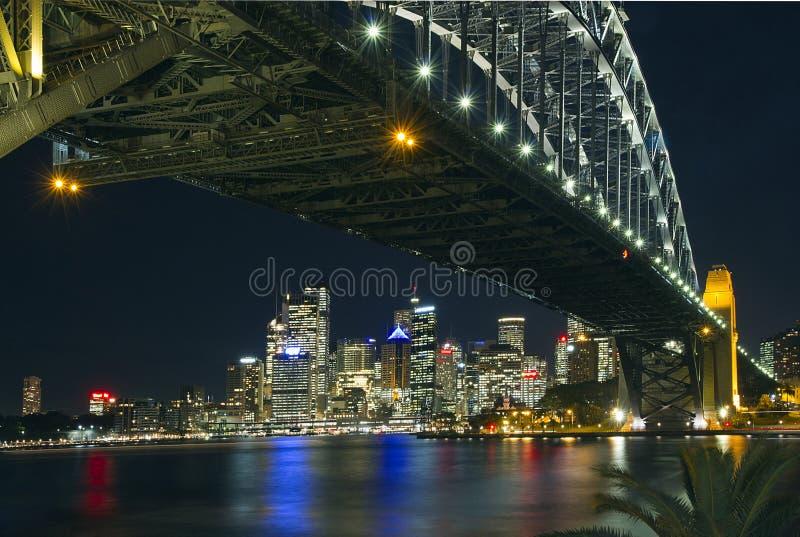 Download Sydney Skyline And Harbour Bridge Stock Photo - Image of lights, night: 21459952