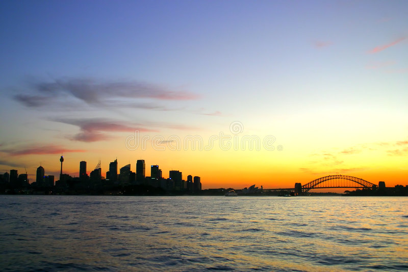 Download Sydney skyline at night stock image. Image of architecture - 3010677