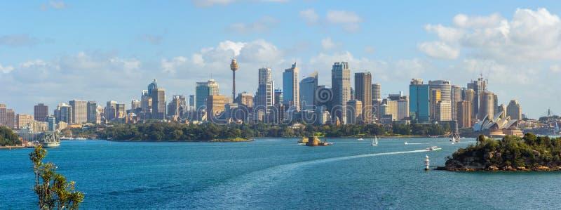 Sydney Skyline Panorama stockbilder