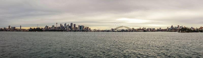 Sydney-Stadt im Sommermorgen stockfotografie