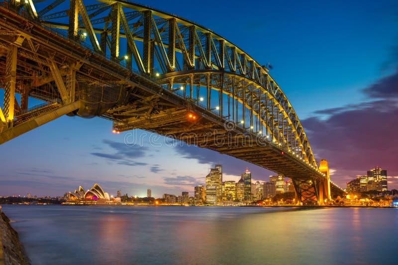 Sydney-Stadt im Sommermorgen stockbild