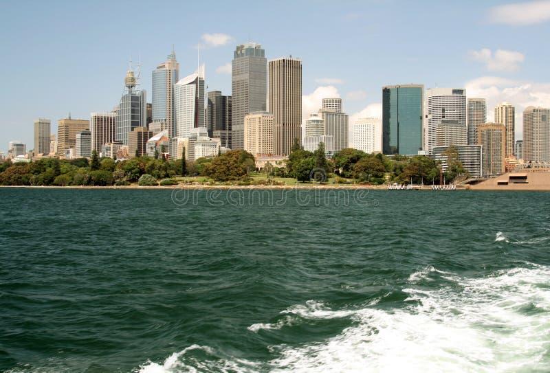 Sydney-Stadt im Stadtzentrum gelegen lizenzfreie stockbilder