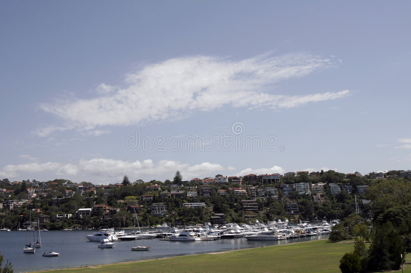 Download Sydney Suburb stock photo. Image of white, harbour, blue - 2135502