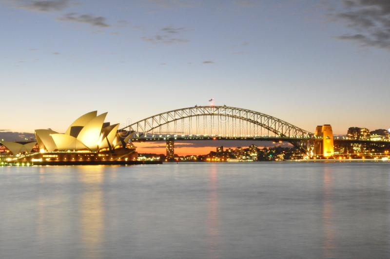 Sydney At Sundown royalty free stock photo