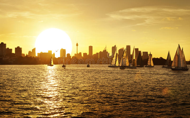 Sydney Sunset Skyline Australia stock image