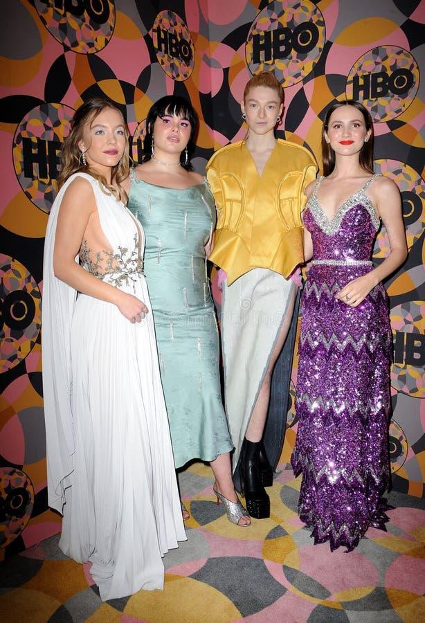 Sydney Sweeney, Barbie Ferreira, Hunter Schafer, Maude Apatow royalty free stock image