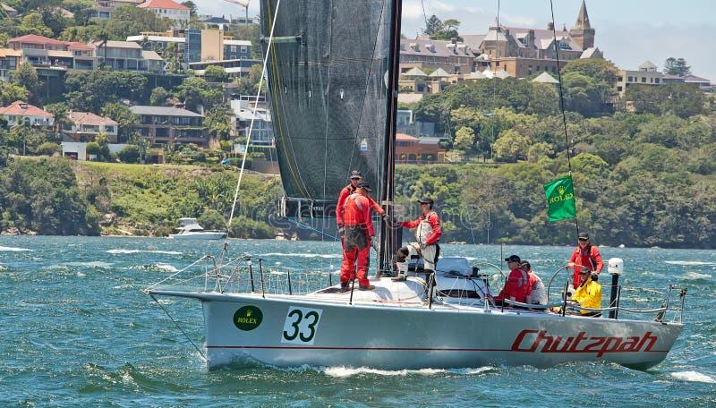 Sydney till det Hobart yachtloppet 2014 arkivbilder