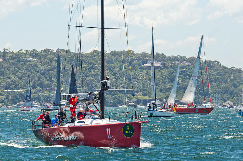 Sydney till det Hobart yachtloppet 2014 royaltyfri fotografi