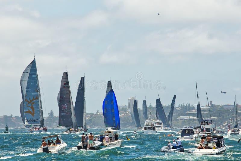 Sydney till det Hobart yachtloppet 2014 royaltyfri foto