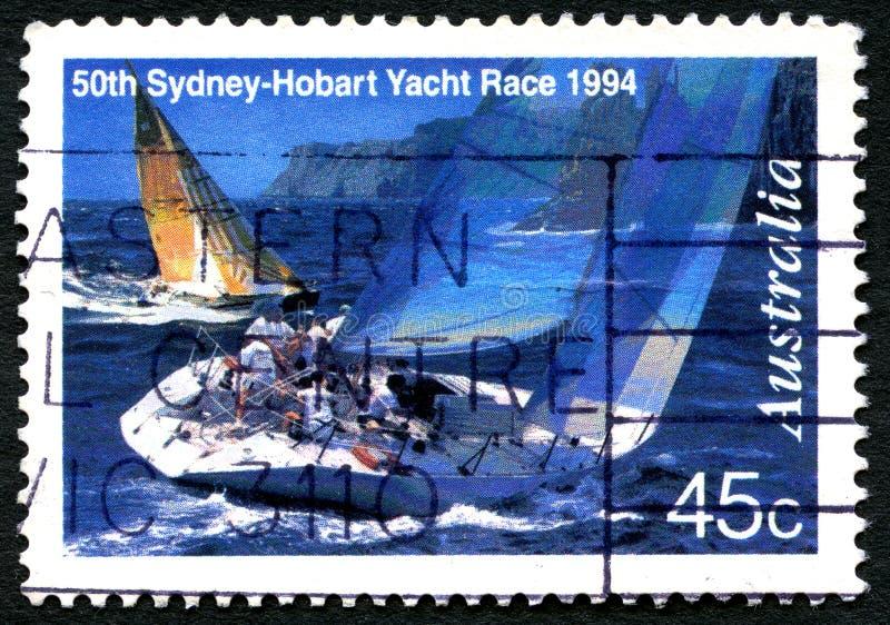 Sydney till Hobart Yacht Race Postage Stamp royaltyfri fotografi