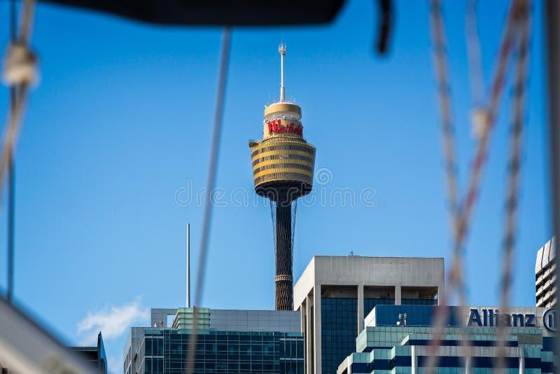 Sydney Tower de Darling Harbour fotografia de stock