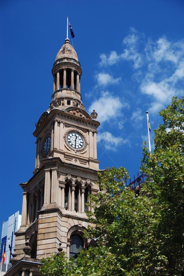 Sydney Townhall fotografia stock libera da diritti