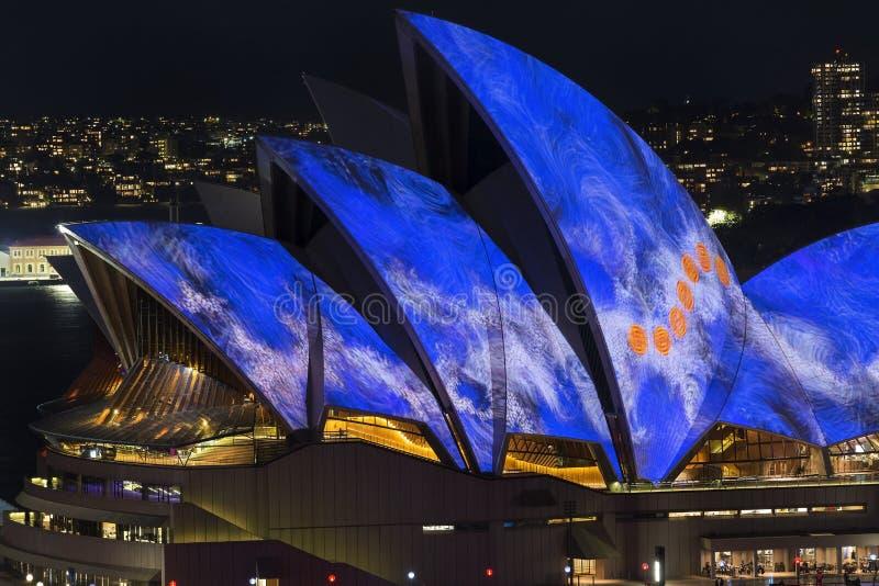 Sydney vívido 2016 imagem de stock
