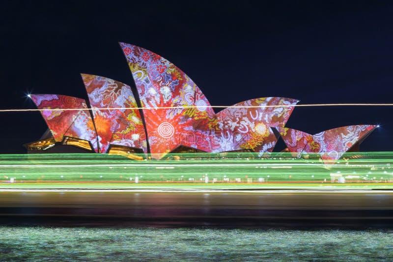 Sydney vívido 2016 foto de stock royalty free